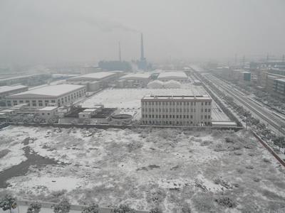 La Chine sous la neige.
