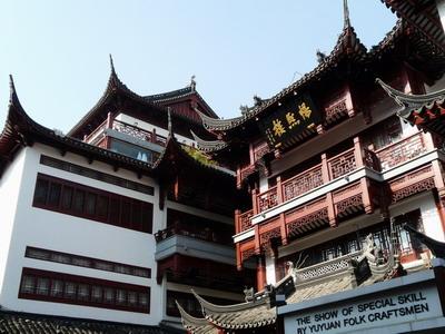 """Temples dans le quartier du """"vieux Shanghai"""""""