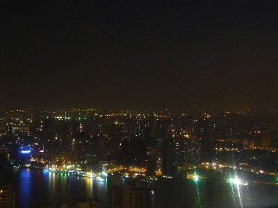 Shanghai by night depuis la tour Jin Mao.