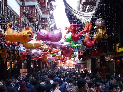 Le quartier du vieux Shanghai pendant le nouvel an Chinois.