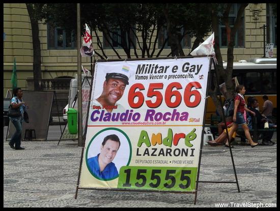 Pour les élections au Brésil, on affiche en grand son homosexualité (message politique ?)