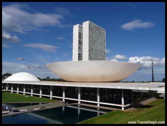 Le Congrès National Brésilien, à Brasilia, la capitale