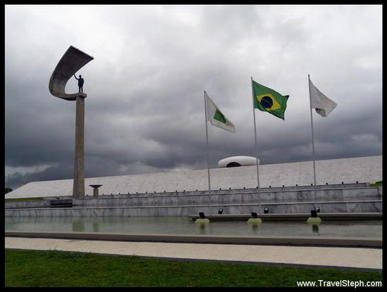 Le Mémorial JK (Brasilia) du nom du Président Juscelino Kubitschek, fondateur de la ville