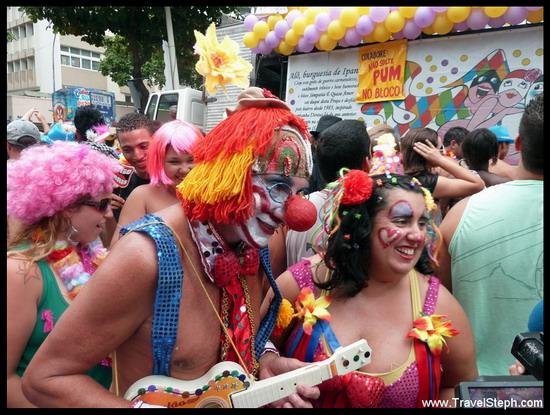 Déguisé en clown, tout simplement - Déguisement Carnaval Rio de Janeiro 2011