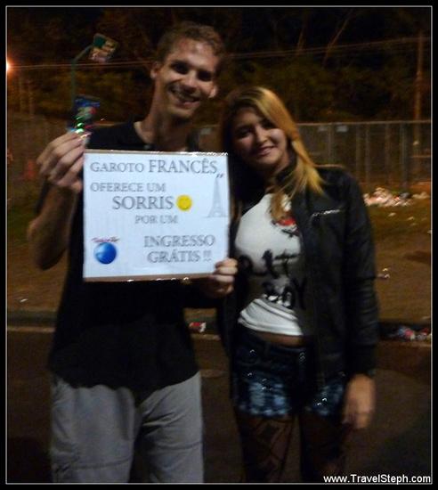 Mon premier billet gratuit contre un sourire pour Rock in Rio, offert par Evelyn