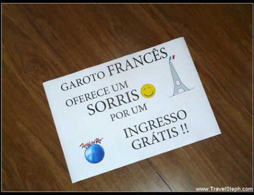 Garçon français offre un sourire contre un billet gratuit – Rock in Rio