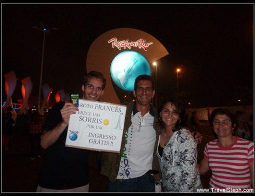 """Foto com Beto e a família dele, para o meu segundo """"ingresso grátis por um sorriso"""" - Rock in Rio"""