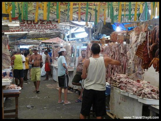 La Feira São Joaquim, sa viande et ses odeurs, Salvador