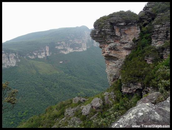 Vu de la Chapada Diamantina, lors de la randonné Castelo