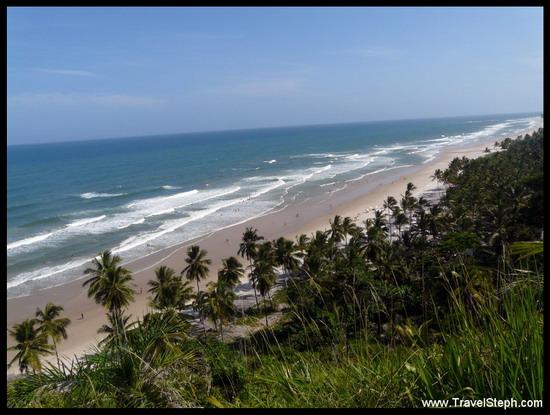 Longue et belle plage à Itacaré - Bahia