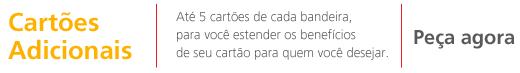 Publicité d'une banque brésilienne proposant jusqu'à 5 cartes de crédits