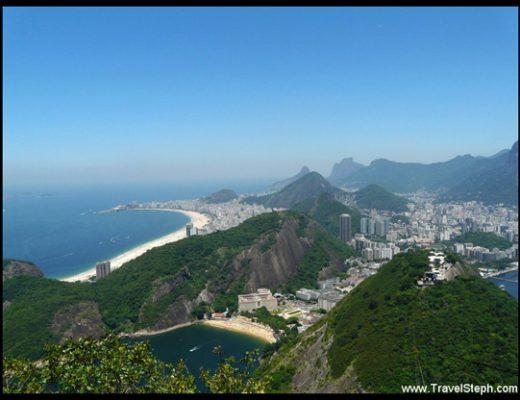 Vu sur Rio de Janeiro depuis le Pain de Sucre