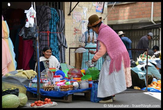 Sur le marché de La Paz, on trouve tous les types de produits