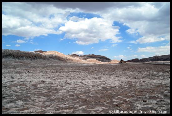 La Vallée de la Lune dans le désert d'Atacama, au Chili