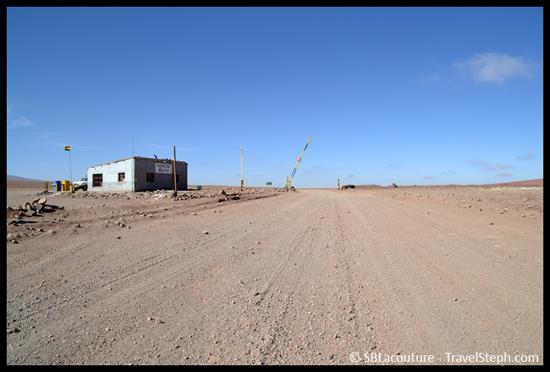 Poste frontière Bolivien au « milieu de rien », dans le Sud Lipez