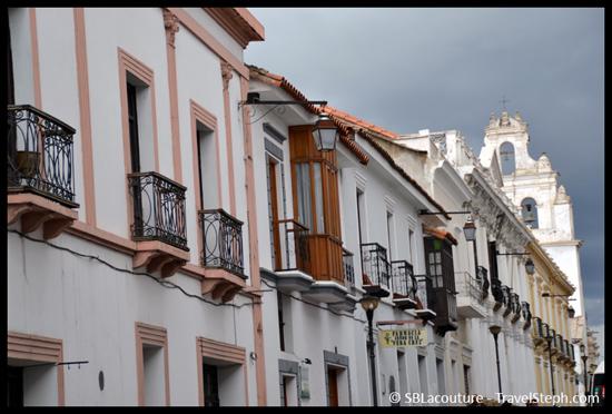 Architecture coloniale de Sucre, en Bolivie