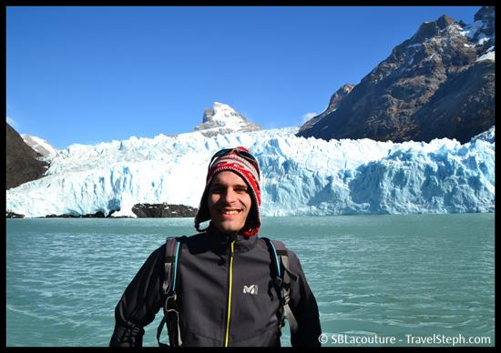 Glacier à proximité de l'iceberg ou l'on a aperçu l'ours polaire, dans le Parque Nacional Los Glaciares