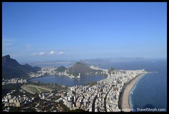 Vu sur la « Zona Sul » de Rio de Janeiro depuis les « 2 Irmãos »