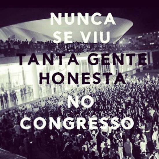 « On n'a jamais vu autant de gens honnêtes au congrès », une manière de dénoncer la corruption des politiques– Crédits photo inconnus