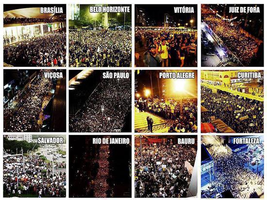 Des manifestations ont eu lieu dans plus de 100 villes Brésiliennes – Crédits photos inconnus