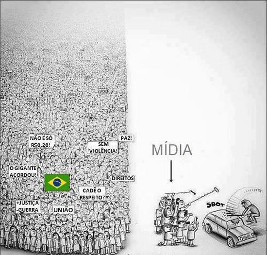 Des médias qui tournent le dos aux milliers de manifestants pour montrer seulement les actes de violences commis par une infime minorité - Crédits image inconnus
