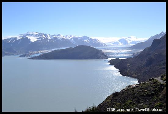 Le Lago Grey et le glacier du même nom, au fond - Patagonie