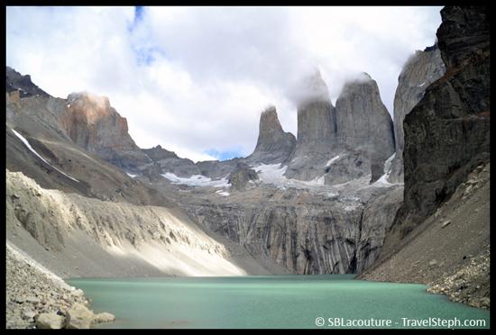 Les Torres, qui ont donnés leur nom au parc. Patagonie (Chili)
