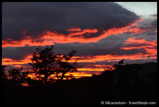 Lever de soleil dans le Parque Torres del Paine en Patagonie