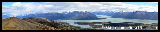 Panorama sur le Lago Roca (El Calafate, Patagonie Argentine)