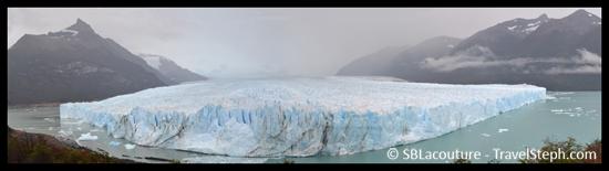 Vue d'ensemble du Perito Moreno (El Calafate, Patagonie)
