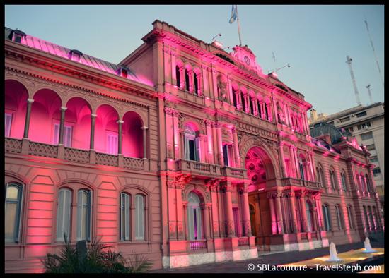 La Casa Rosa, siège du pouvoir exécutif argentin, à Buenos Aires