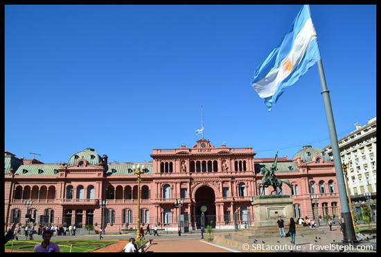 La Casa Rosa, siège du pouvoir exécutif Argentin, en journée