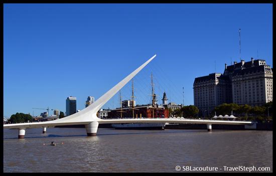 « Puente de la Mujer » dans le nouveau quartier de Puerto Madero